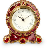 Jay Strongwater Bryce Crystal Scroll Clock
