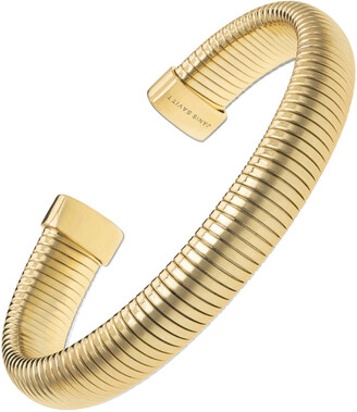 Janis Savitt Small Yellow Gold Plated 3/8 Inch Cobra Cuff Bracelet