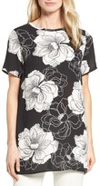 Chaus Women's Peony Print Front Knit Top