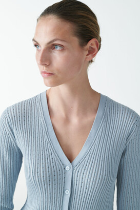 Cos Knitted Silk Mix Cardigan