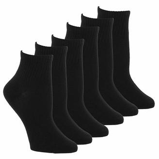 Steve Madden Legwear Women's 6pk solid quarter top socks