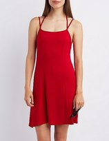 Charlotte Russe Strappy Open Back Shift Dress