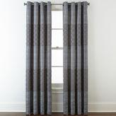 STUDIO BY JCP HOME StudioTM Henderson Jacquard Grommet-Top Curtain Panel