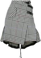 Sacai houndstooth check skirt - women - Cotton/Cupro - 1