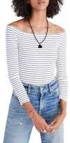 Madewell Women's Stripe Off The Shoulder Bodysuit
