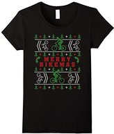 Men's Merry Bikemas Cycling Biking Ugly Christmas Sweater Large