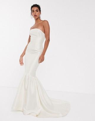 Asos Edition EDITION bandeau wedding dress with trumpet hem