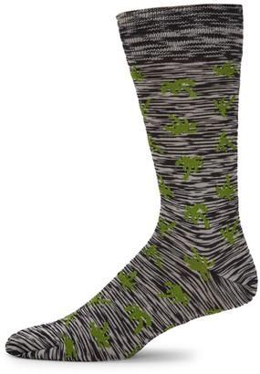 Paul Smith Palm Stretch-Cotton Mid-Calf Socks