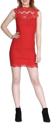 She + Sky Scalloped Lace Dress