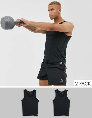 Reebok 2 pack Performance Vest-Black