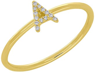 Ron Hami 14K Yellow Gold Diamond Initial Ring - 0.04 ctw