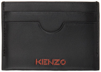 Kenzo Black Cut-Out Card Holder