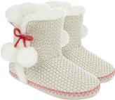 Accessorize Sophia Sparkle Knit Slipper Boots