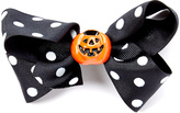 Beary Basics Black & White Polka Dot Pumpkin Hair Clip
