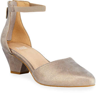 Eileen Fisher Just Low-Heel Metallic Pumps