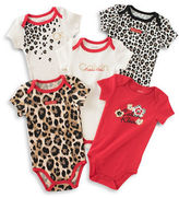 Calvin Klein Five-Pack of Animal Print Bodysuits