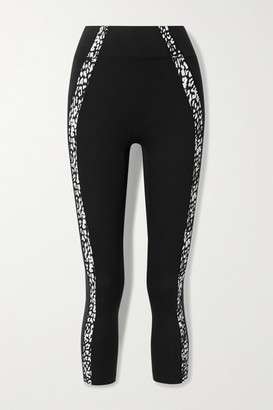 All Access Pace Cropped Stretch Leggings - Black