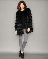 The Fur Vault Lamb-Trim Rabbit Fur Jacket