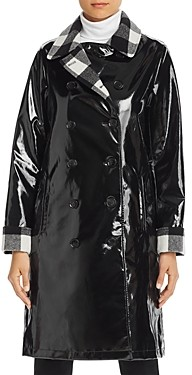 Jane Post Double-Breasted Front Slicker Raincoat
