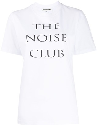 McQ Noise Club print T-shirt