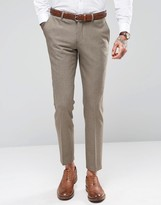 Selected Skinny Dogtooth Wedding Suit Pants With Stretch