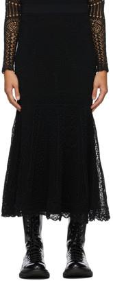 Alexander McQueen Black Patchwork Skirt
