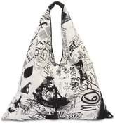 MM6 MAISON MARGIELA Graffiti Print Cotton Japanese Bag