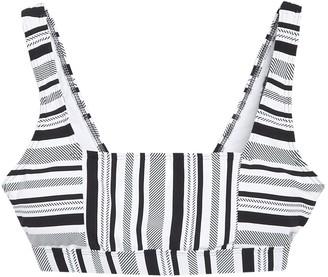 Next Limitless Stripe Square Neck Bikini Top