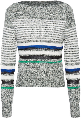 See by Chloe Striped Marled Knitted Sweater