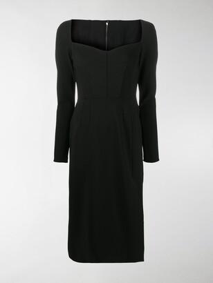 Dolce & Gabbana Sweetheart Neckline Dress