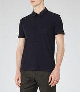 Reiss Charlton Ribbed Polo Shirt