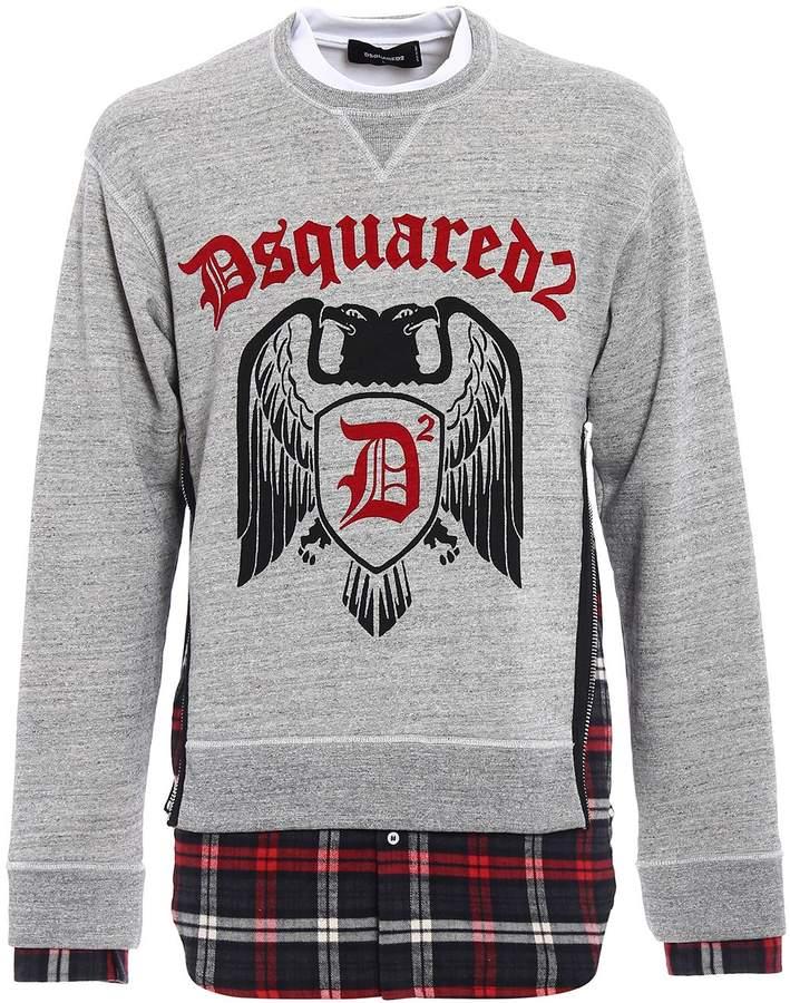 DSQUARED2 Check D2 Sweatshirt