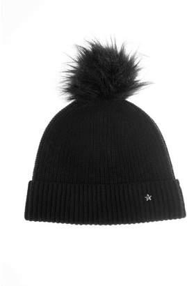 Mint Velvet Black Pom Pom Knitted Hat