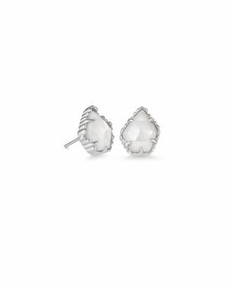 Kendra Scott Tessa Silver Stud Earrings in Ivory Pearl