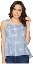 BB Dakota Euphrasia Sot Plaid Button Back Tank Top Women's Sleeveless