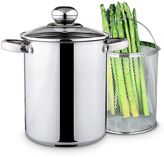 PureLife 4-qt. Stainless Steel Asparagus Pot with Steamer Basket