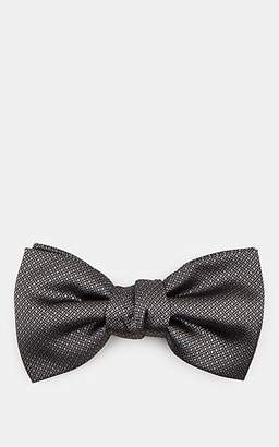 Lanvin Men's Diamond-Pattern Silk Jacquard Bow Tie - Silver