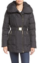 Cole Haan Women's Quilted Coat With Oversize Collar