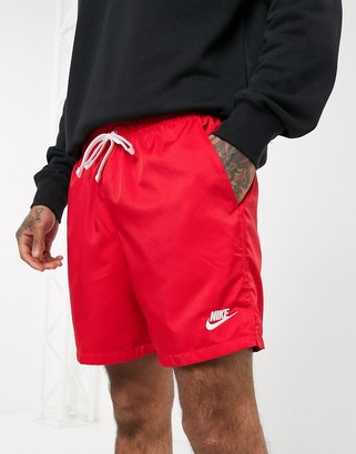 Nike Club Essentials woven shorts in red