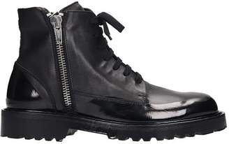 N°21 N.21 Combat Boots In Black Leather