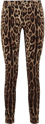 Dolce & Gabbana Printed Stretch Cotton Trousers