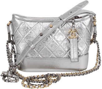 Chanel Gabrielle Silver Leather Handbags