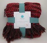 Martha Stewart Harmony 50x60 Throw Blanket, Heathered Red