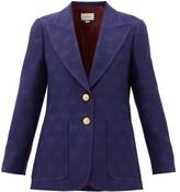 Gucci My Body My Choice Gg-jacquard Wool Jacket - Womens - Blue