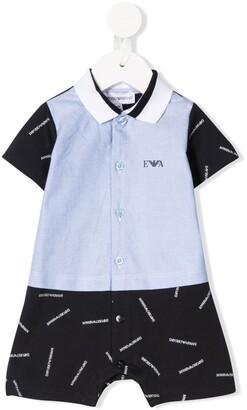 Emporio Armani Kids Colour-Block Logo Trouser Set