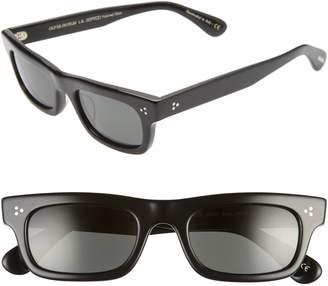 Oliver Peoples Jaye Sun 50mm Polarized Rectangle Sunglasses
