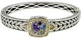 Effy Jewelry Effy 925 Sterling Silver & 18K Gold Accent Multi Gemstone Bangle, 1.59 TCW