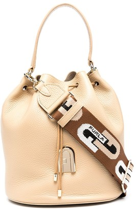 Furla Logo Strap Bucket Bag