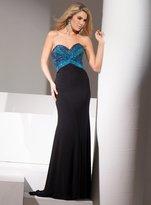 Mon Cheri La Gala Prom by Mon Cheri - 115545 Long Dress In Black Blue