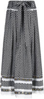 Dodo Bar Or Black Cotton Jacquard Midi Skirt